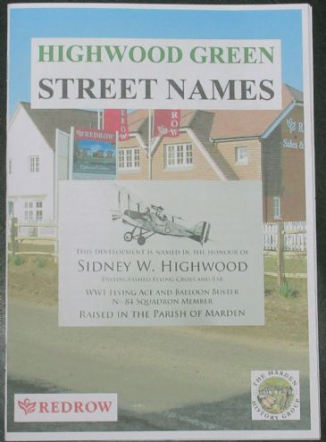 Highwood Green Street Names